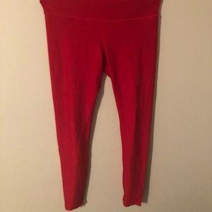 Tesla high rise red athletic leggings